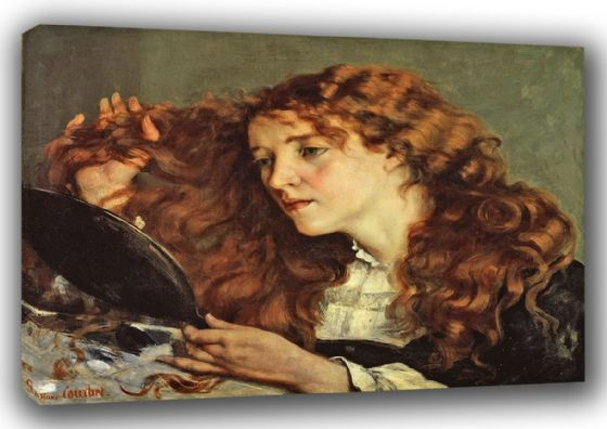 Courbet, Gustave: Jo, the Beautiful Irish Girl/Woman. Fine Art Canvas. Sizes: A3/A2/A1 (00457)